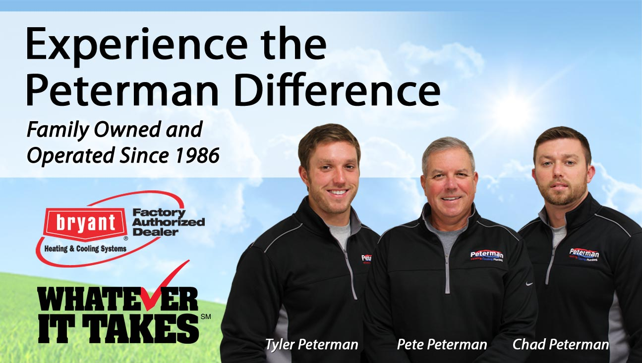 Peterman Heating, Cooling & Plumbing, Inc. - experience the Peterman difference