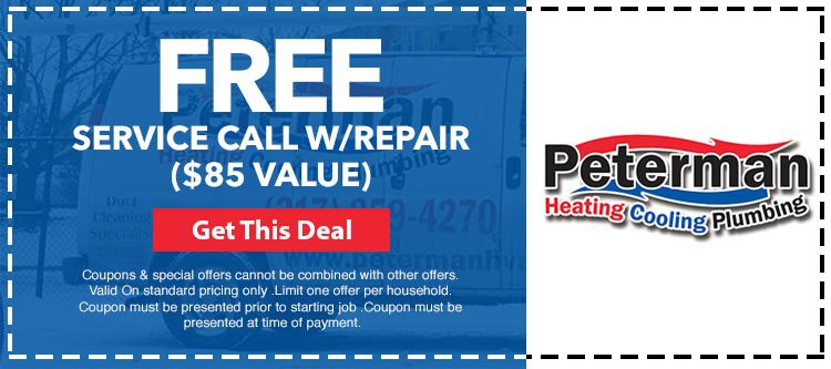 Free service call with repair in Indianapolis, IN